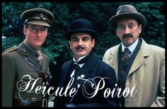 """The """"Poirot"""" series on PBS starring the incredible David Suchet as Hercule Poirot and Hugh Frasier as Captain Arthur Hastings (left). Philip Jackson is Chief Inspector Japp (right). The very last episodes of this long running series will be aired this year."""