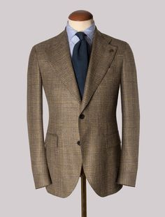 Green Prince of Wales Checked Jacket – Gabucci Shirt And Tie Combinations, Prince Of Wales, Green Jacket, Cashmere, Blazer, Silk, Jackets, Shirts, Clothes