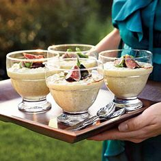 Lemony Rice Pudding with Figs and Saba | Saba, an ancient sweetener traditionally made from grape juice, lends a subtle but complex flavor to this traditional dessert. | #Recipes | SouthernLiving.com