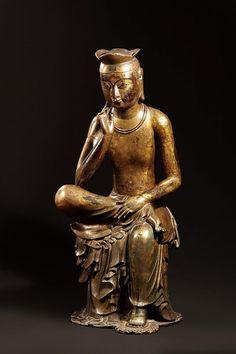 금동미륵보살반가사유상 [Geumdong Mireuk Bosal ban-gasayusang] : Gilt-bronze Maitreya in Meditation (Korean National Treasure No. 83) via 8sc의 가라지(Garage)