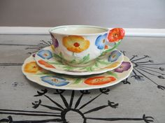 Grindley England Tea Cup and Saucer Floral