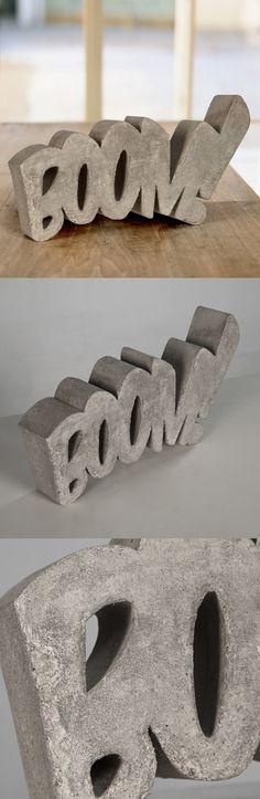 Boom! - Concrete Sculpture by HandMadeFont - $195 USD