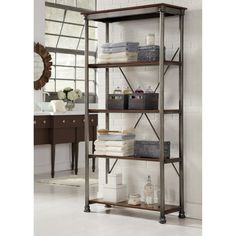 Home Styles The Orleans Multi-Function 5 Shelf Unit - Gray
