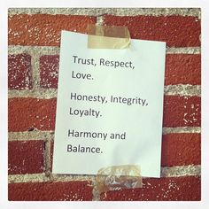 This is Cesar's mission. Everyone at the CMI office has one of these signs at their desk as a daily reminder. #Trust #Respect #Love