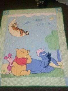 Winnie the Pooh Reversible Quilt by PrettyCraftybyLinda on Etsy, $38.95