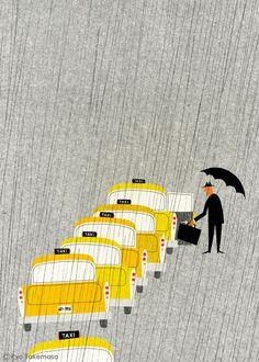 Ryo Takemasa. Taxi. Illustration