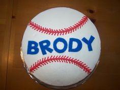 round baseball cake