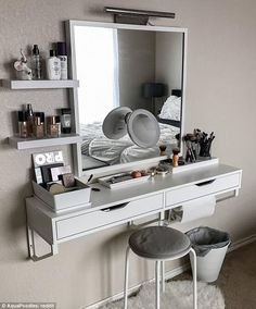 Get organized! FEMAIL spotlights impeccably arranged cosmetics collections, inventive storage ideas and dreamy vanity set-ups to inspire you in 2017.