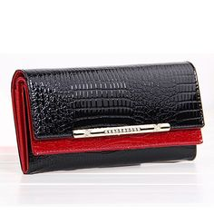 Good price Crocodile Genuine Leather Women Wallet Red Clutch Brand Designer Long Money Clips Credit Card Clutch Women's Purse Female Party just only $25.50 with free shipping worldwide  #womanwallets Plese click on picture to see our special price for you