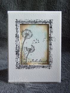 Thinking of you.... - framed dandelions