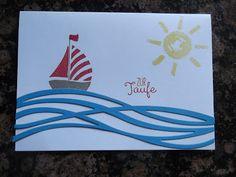 Sconebeker Stempelscheune - Stampin up Sets : Taufkarte, Swirly Bird, Hinterm Regenbogen