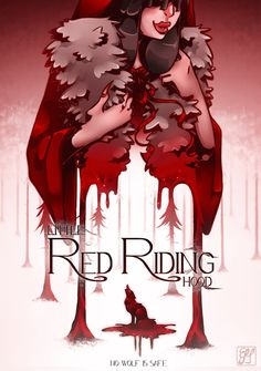 """""""No wolf is safe"""" Little Red Riding Hood by EmiDeClam on DeviantArt"""