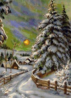 Зимний вечер - Схемы вышивки - Lamaria - Авторы - Портал «Вышивка крестом»