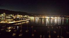 Night on the harbour Wellington New Zealand