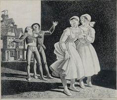 Two Maidens and Street Singers By Rockwell Kent ,Circa 1940 Rockwell Kent, Living In New York, Mural Painting, Printmaking, Singers, Museum, Statue, Fine Art, Street