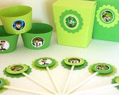 30 Ben 10 Cupcake Toppers.