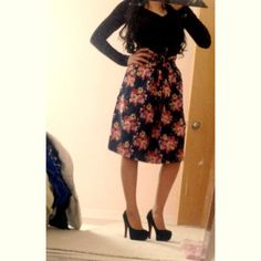 Floral Skirt modest fashion #ootd