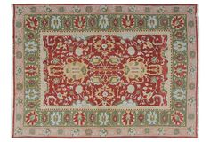 red, green & blue rug
