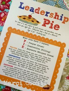 Marci Coombs: Leadership Pie Handout.