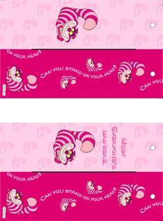 Cheshire cat printable bookmarks.