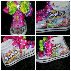 Limited edition SHOPKINS Lippy Lipps birthday inspired shoe - SWALKERDESIGNS & TurnTo Designs
