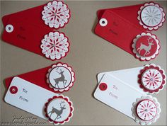 I like these simple gift tags, easy to make and they look great!