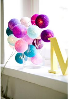 Birthday party colors, perhaps? Colorful Birthday Party, Colorful Party, Birthday Parties, Party Colors, Crafts To Make, Room Ideas, Lights, Holiday, Girls