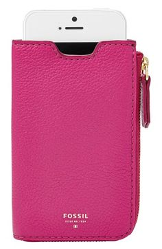 Fossil+'Sydney'+Leather+Phone+Wallet+available+at+#Nordstrom