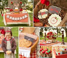 This Rustic Fall Apple Picking Party by Charming Touch Parties celebrates the beautiful season in such a cozy way! First Birthday Decorations, Girl Birthday Themes, Birthday Ideas, 2nd Birthday, Apple Birthday Parties, Carnival Birthday Parties, Apple Decorations, Burlap Decorations, Pumpkin Patch Birthday