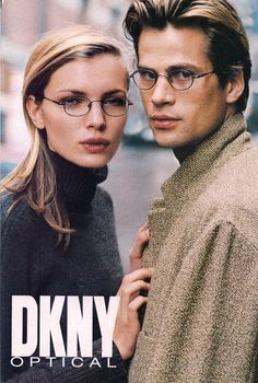 Esther Cañadas and Mark Vanderloo. They met on a Donna Karan shoot in 1996. Starring in a consecutive number of DKNY campaigns through the end of the century, they were married in 1999.