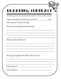 This documents is designed for not only gifted and talented programs, but any independent learning that may take place in your classroom.  The contract clearly defines what goals, and learning objectives are expected. This contract is great for independent study students.