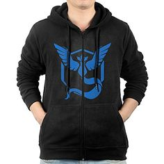 Men Pokemon Go Team Mystic Zipper Hoodie Sweatshirt * Check out this great product.(This is an Amazon affiliate link and I receive a commission for the sales)