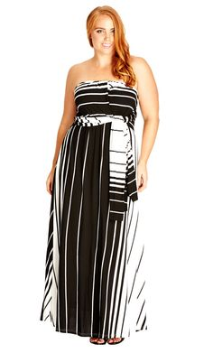 City Chic Holiday Halter Maxi Dress - Women's Plus Size Fashion City Chic - City Chic Your Leading Plus Size Fashion Destination #citychic #citychiconline #newarrivals #plussize #plusfashion #convertibledress