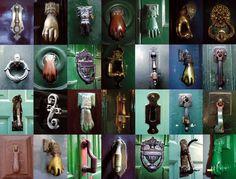 Picaportes (doorknockers) in old town Santiago, UNESCO World Heritage site