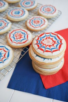 Fireworks Cookies from the dessert chronicles