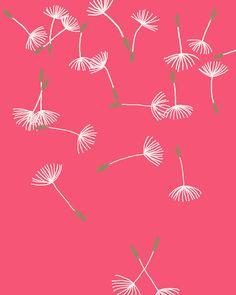 Fine Art Print.  Dandelion Puffs Scattered.  September 7, 2011.