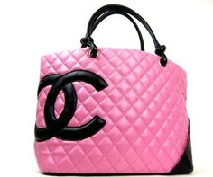 Authentic Chanel Pink Quilted Ligne Cambon Tote Bag 9783480 re Colored | eBay