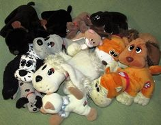 Vintage POUND PUPPIES & PURRIES Lot + CATS Animated 1985-2014 Plush Stuffed…