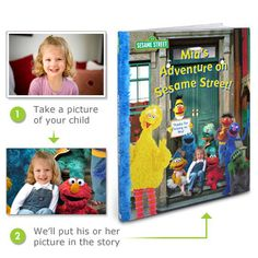 I'm totally getting this made for my little guy! A Sesame Street book with their picture and name through out!