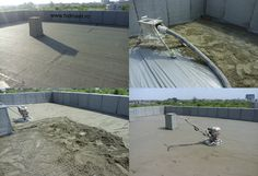 mechanized screed on waterproof terraces