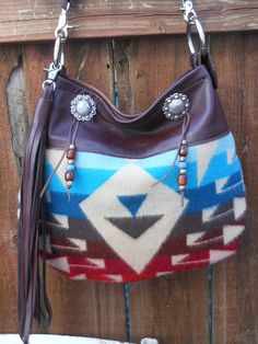 8e911fc9627c Native American Bag Leather Purse Leather Bag by StarryGarden