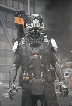 ribeyrolles leo Cyberpunk Character, Cyberpunk Art, Armor Concept, Concept Art, Science Fiction, Character Concept, Character Design, Mecha Suit, Sci Fi Armor