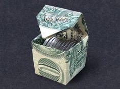 Dollar origami Dollar origami,Gifts CUBIC MONEY BOX Dollar Origami – Dollar Bill Art More Related posts:Easy Paper Flower Paper Craft Ideas 2019 - origamiOrigami Bookmarks - origamiPapier Blumen basteln: Einfache Tulpen (mit Vorlage) -. Money Origami Tutorial, Origami Instructions, Origami Cube, Origami Folding, Origami Boxes, Paper Folding, Money Origami Heart, Oragami Money, Origami With Money