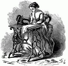 VintageFeedsacks: Household Items Lady at a treadle sewing machine