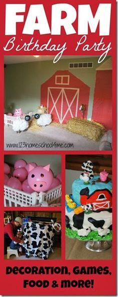 Farm Birthday Party for Kids #partythemes #birthdays