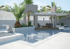 Swiming Pool, Swimming Pools Backyard, Swimming Pool Designs, Pool Landscaping, Small Pool Backyard, Outdoor Areas, Outdoor Pool, Pool Landscape Design, Pool Cabana