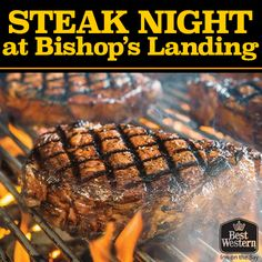 It's Steak Night! When was the last time you enjoyed a delicious steak? How To Cook Steak, Best Western, Landing, Beef, Meals, Cooking, Recipes, Night, Restaurants