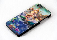 Disney Paintings Ariel The Little Mermaid iPhone 4 / 4s iPhone 5 case Samsung Galaxy s3 Samsung Galaxy s4 on Etsy, $15.45