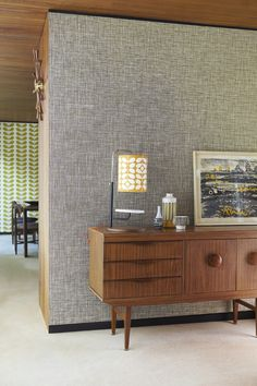We love this Scribble wallpaper from the Orla Kiely collection by Harlequin