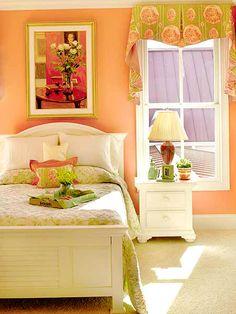teen-age girl sophistication Bedroom Decor For Teen Girls, Cute Bedroom Ideas, Teen Girl Rooms, Little Girl Rooms, Kids Rooms, Peach Rooms, Orange Rooms, Peach Walls, Cool Beds